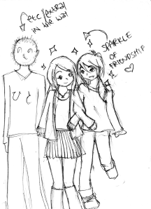 Sketch of friendship by arawr